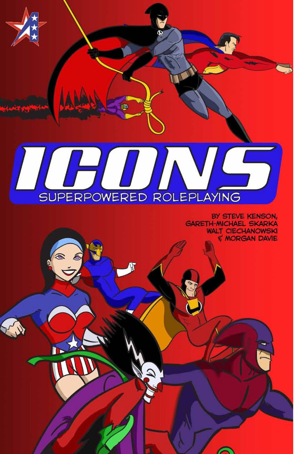 ICONS Superpowered Roleplaying front cover
